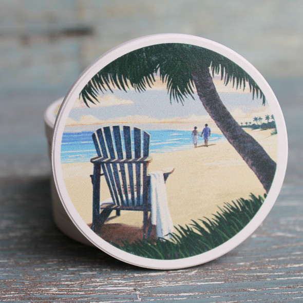 Adirondack Chair & Palm Tree Car Coaster