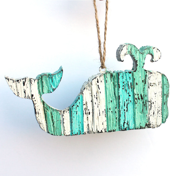 Wooden Whale Ornament