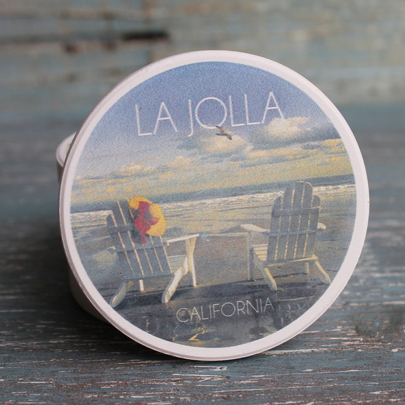 La Jolla Adirondack Chairs Car Coaster