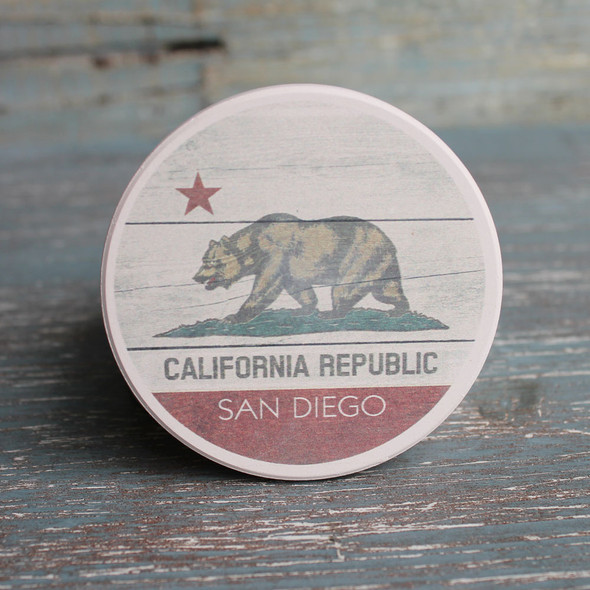 San Diego California Republic Flag Car Coaster