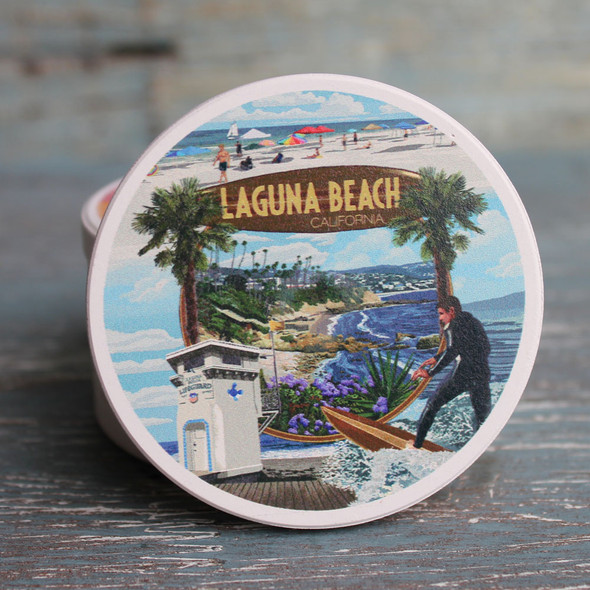 Laguna Beach Montage Car Coaster