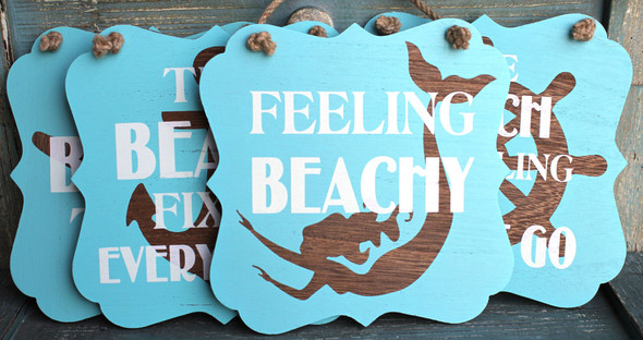 Coastal Beach Sign Set