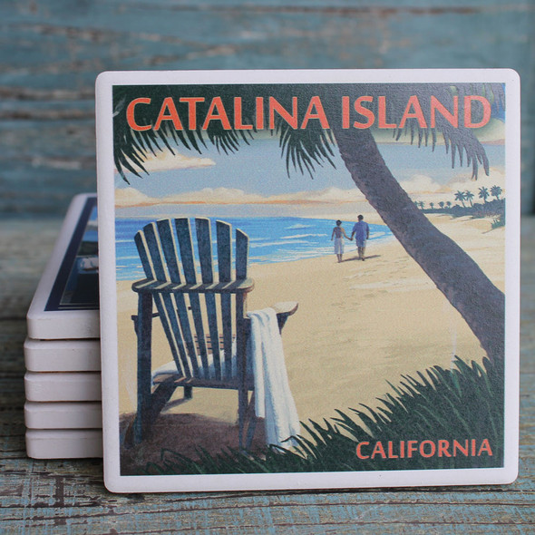 Catalina Island Adirondack Chair Coaster