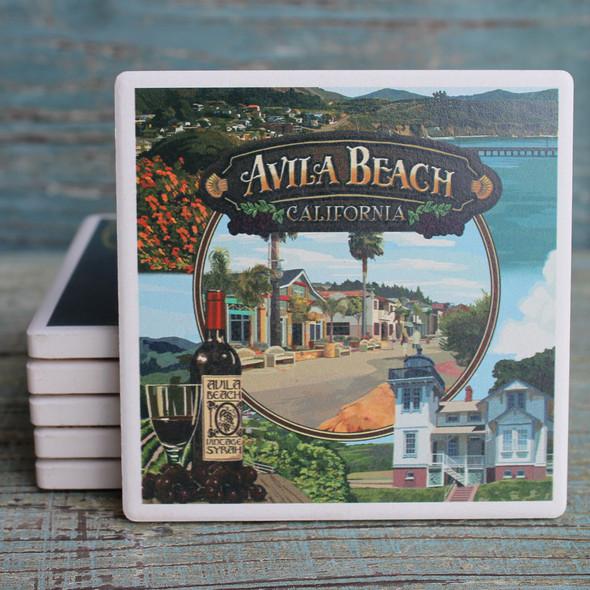 Avila Beach Montage Coaster