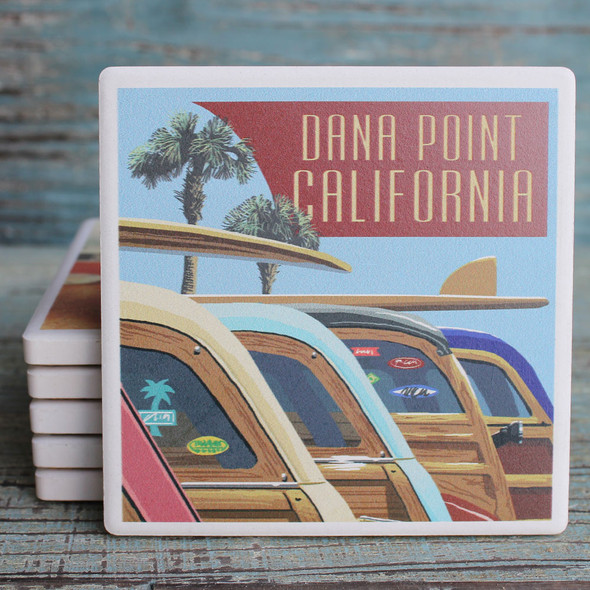 Dana Point Woody Lineup Coaster