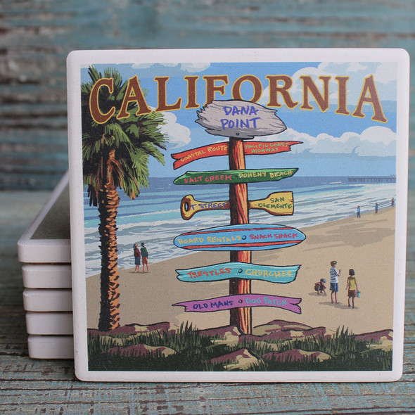 Dana Point Destination Signs Coaster