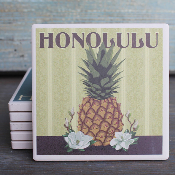 Honolulu Pineapple Coaster
