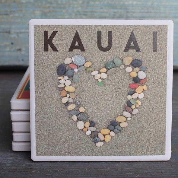 Kauai Stone Heart coaster