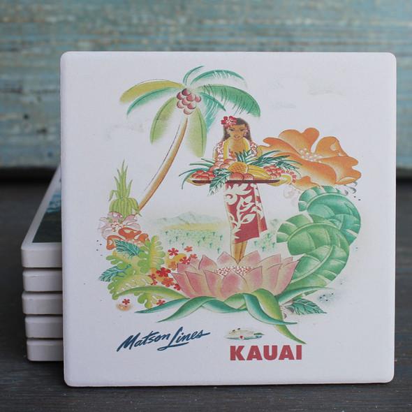 Matson Lines Kauai coaster