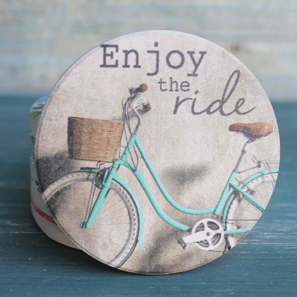 Enjoy the Ride Bicycle Car Coaster