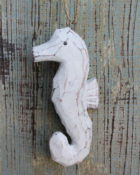 Wood Seahorse Ornament