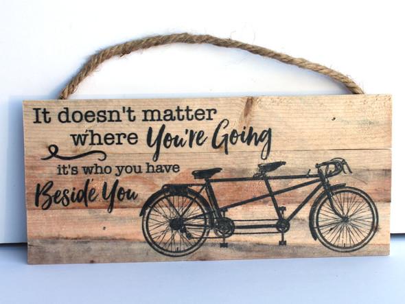 Bicycle Rope Hanging Sign
