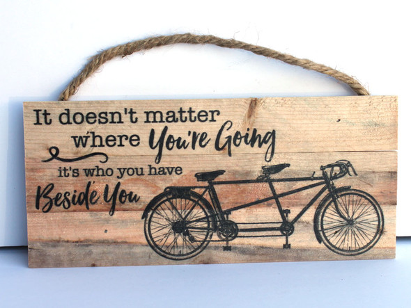 Bicycle Rope Hanging Sign