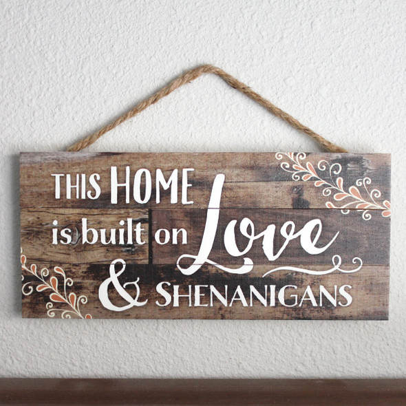 Love & Shenanigans Rope Sign