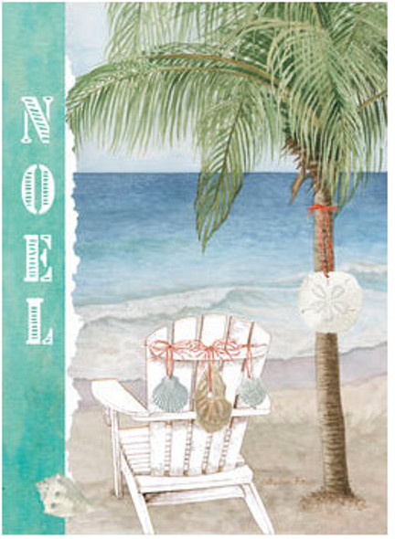 Noel Adirondack Chair Christmas Card