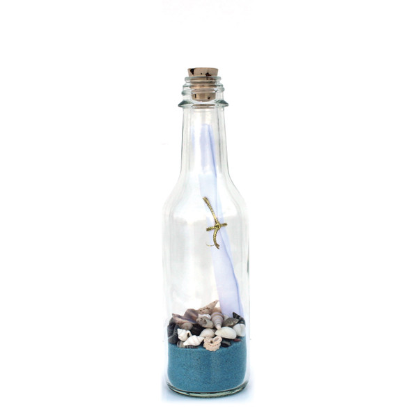 Light Blue Sand Message in a Bottle