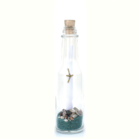 Aqua Sand Message in a Bottle