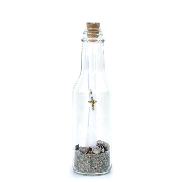 Natural Sand & Shells Message in a Bottle