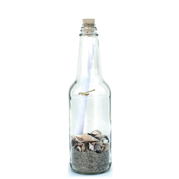 """Natural Sand 8"""" Message in a Bottle"""