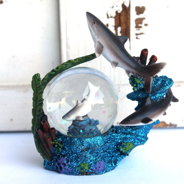 Jumping Shark Snow Globe