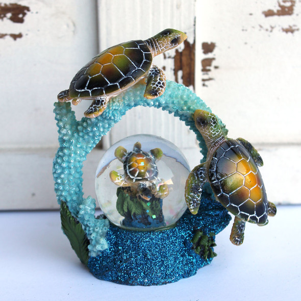 Sea Turtle Rainbow Snow Globe