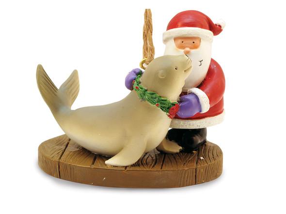 Santa & Seal Ornament