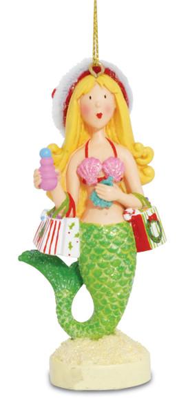 Shopping Mermaid Ornament