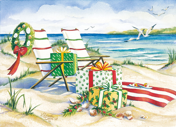 Canvas Beach Chairs Cards