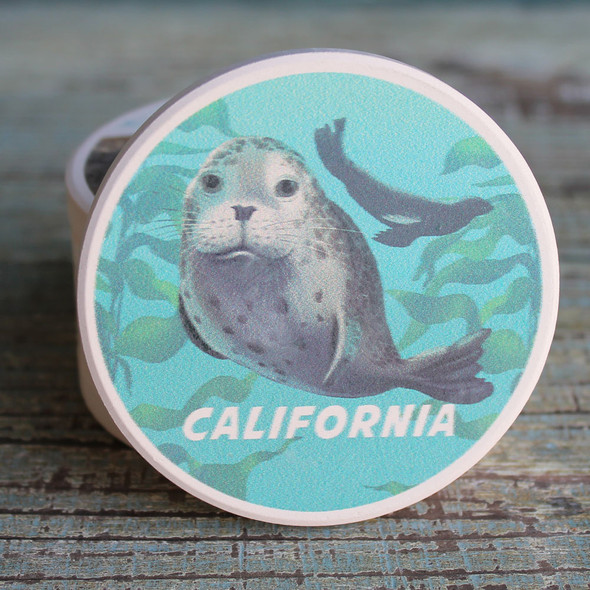 California Harbor Seal Car Coaster