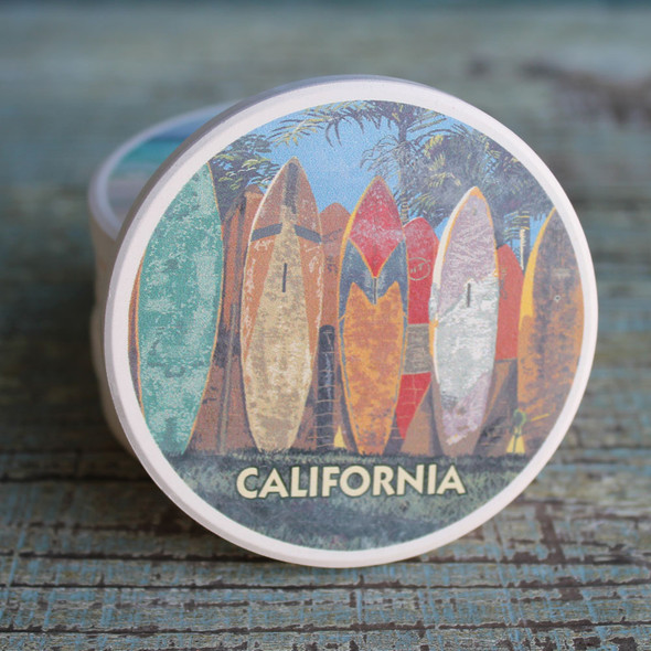 California Surfboard Fence car coaster
