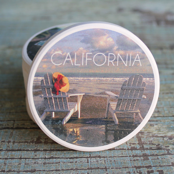 California Adirondack Chair car coaster