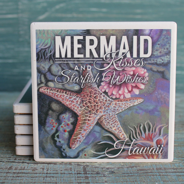 Hawaii Mermaid Kisses Coaster