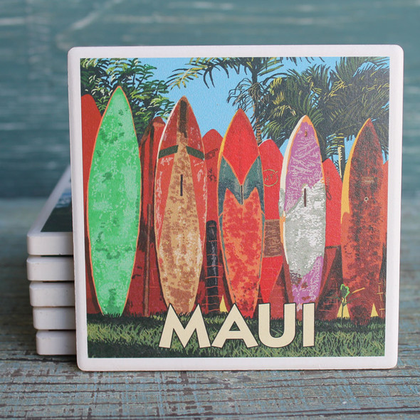 Maui Surfboard Fence Coaster