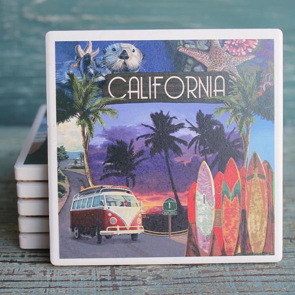 California Montage Coaster