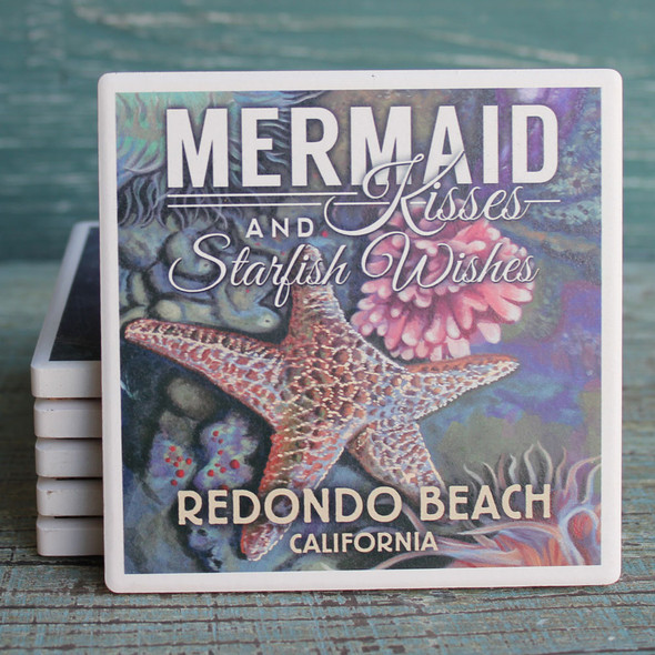 Redondo Beach Mermaid Kisses Coaster