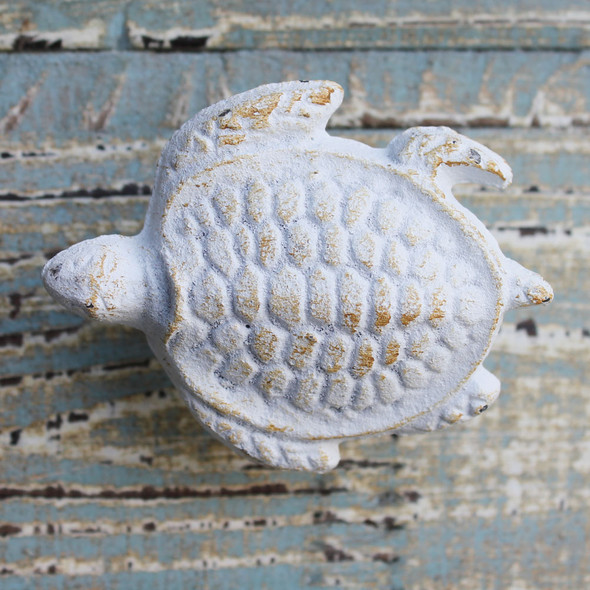 White Sea Turtle Iron Knob