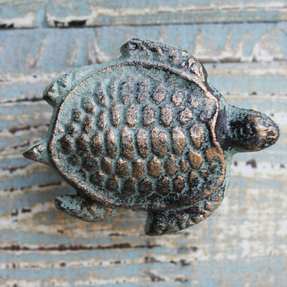 Green Sea Turtle Iron Knob