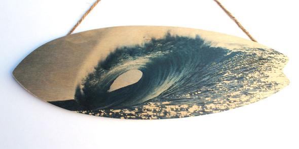 Ocean Wave Surfboard Sign