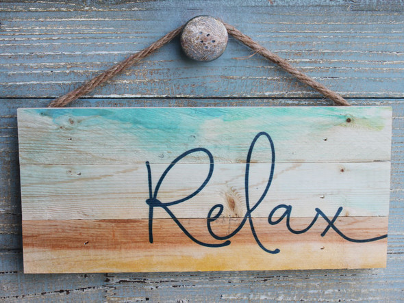 Relax - Colorful Sign