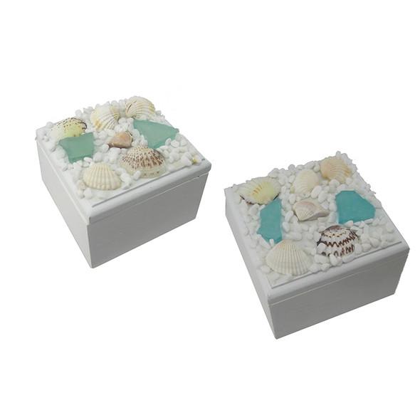 Small Square Sea Glass Treasure Box