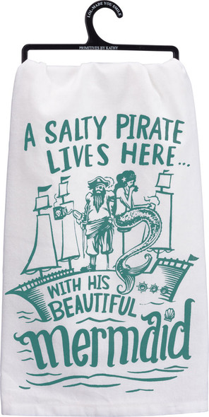 A Salty Pirate lives here with his Beautiful Mermaid.