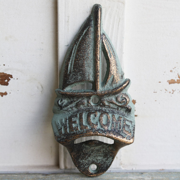 Sailboat Welcome / Wall Mount Bottle Opener