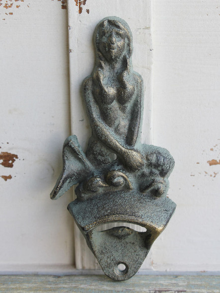 Iron Mermaid Wall-Mount Bottle Opener