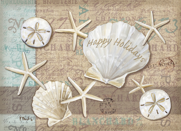 Linen Shells Holiday - LPG Christmas Cards