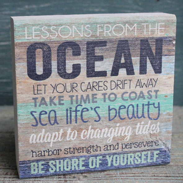 Lessons form the Ocean Chunky Sign