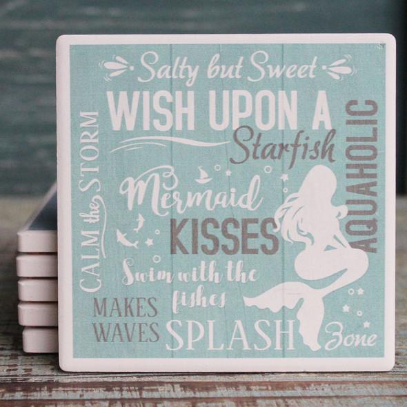 Mermaid Typography Coaster