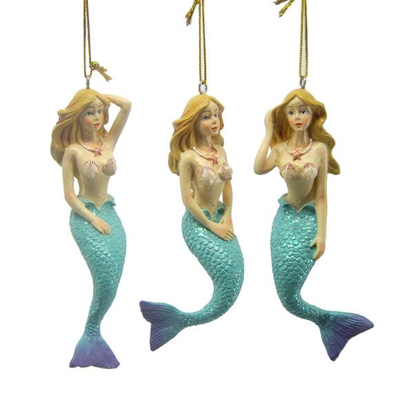 Assorted Mermaid Ornaments Set
