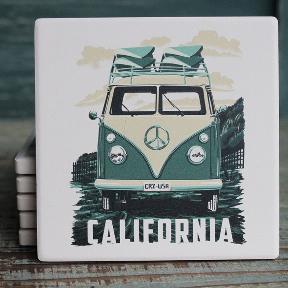Green VW Van California Coaster