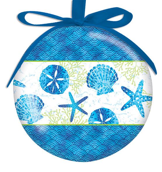Beach Batik Ball Ornament