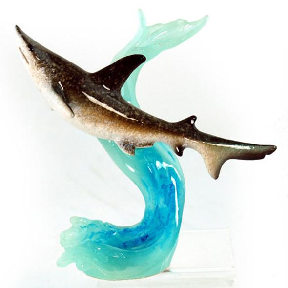 Shark Figurine on Wave